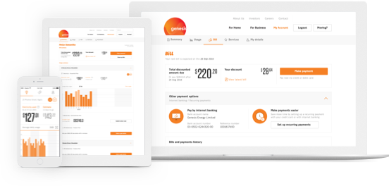 Manage your energy usage and pay your bills on your terms