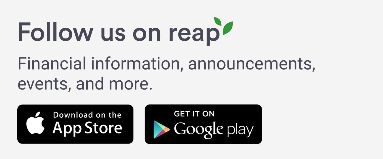 Follow us on reap