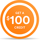 Get a $100 credit