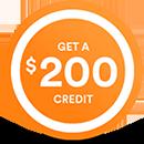 Get a $200 credit @