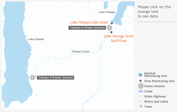 Tekapo map - Genesis Energy NZ